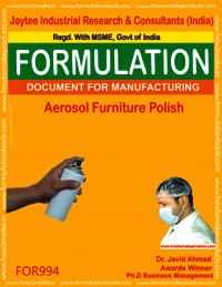 Aerosol furniture polish type 1