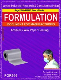 Antiblock Wax Paper Coating