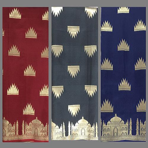 Taj Mahal Silk Saree