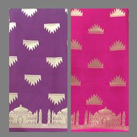 Taj Mahal Silk Saree