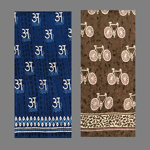 Party wear Indigo Silk Saree