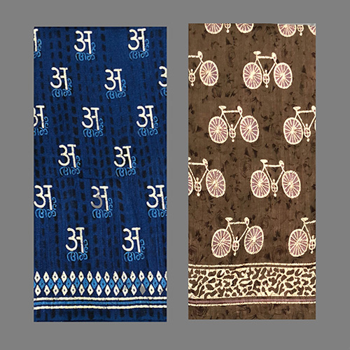 Party wear Indigo Silk Saree