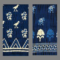 Blue Indigo Silk Saree
