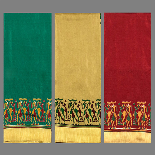 Fancy Printed Silk  Saree