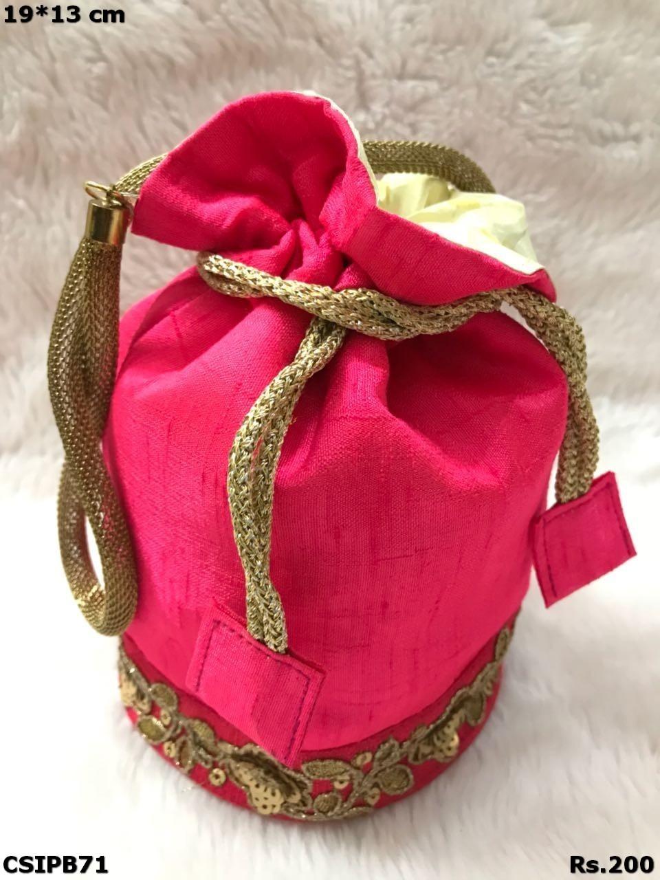 Raw Silk Stylish Potli