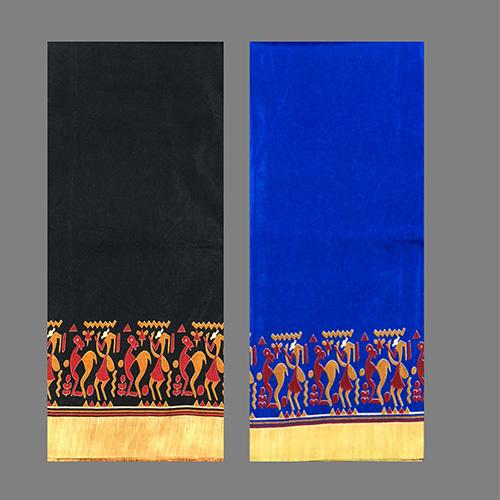 Black Vivo Silk Printed Saree