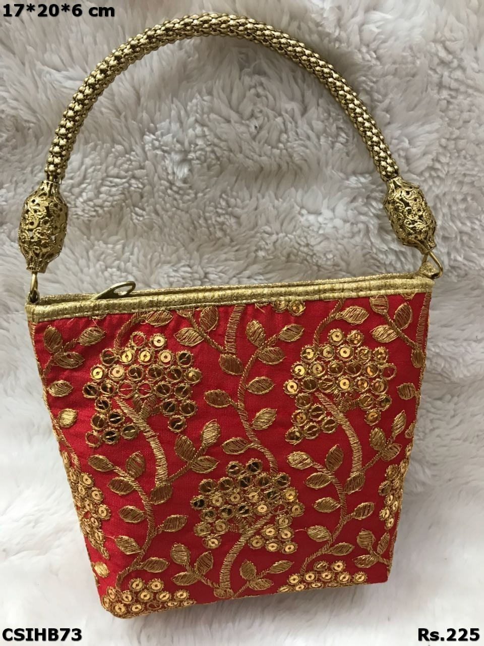 Handicraft Party Wear Hand Embroidered Hand Bags