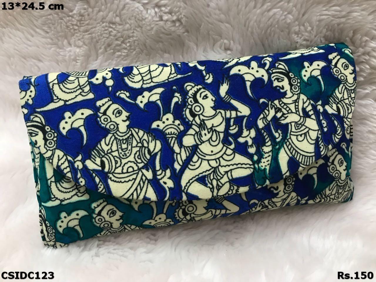 Raw Silk Multicolour Clutch