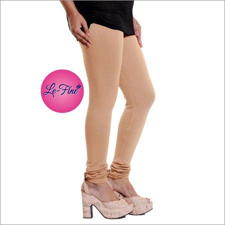 Beige Churidar Leggings