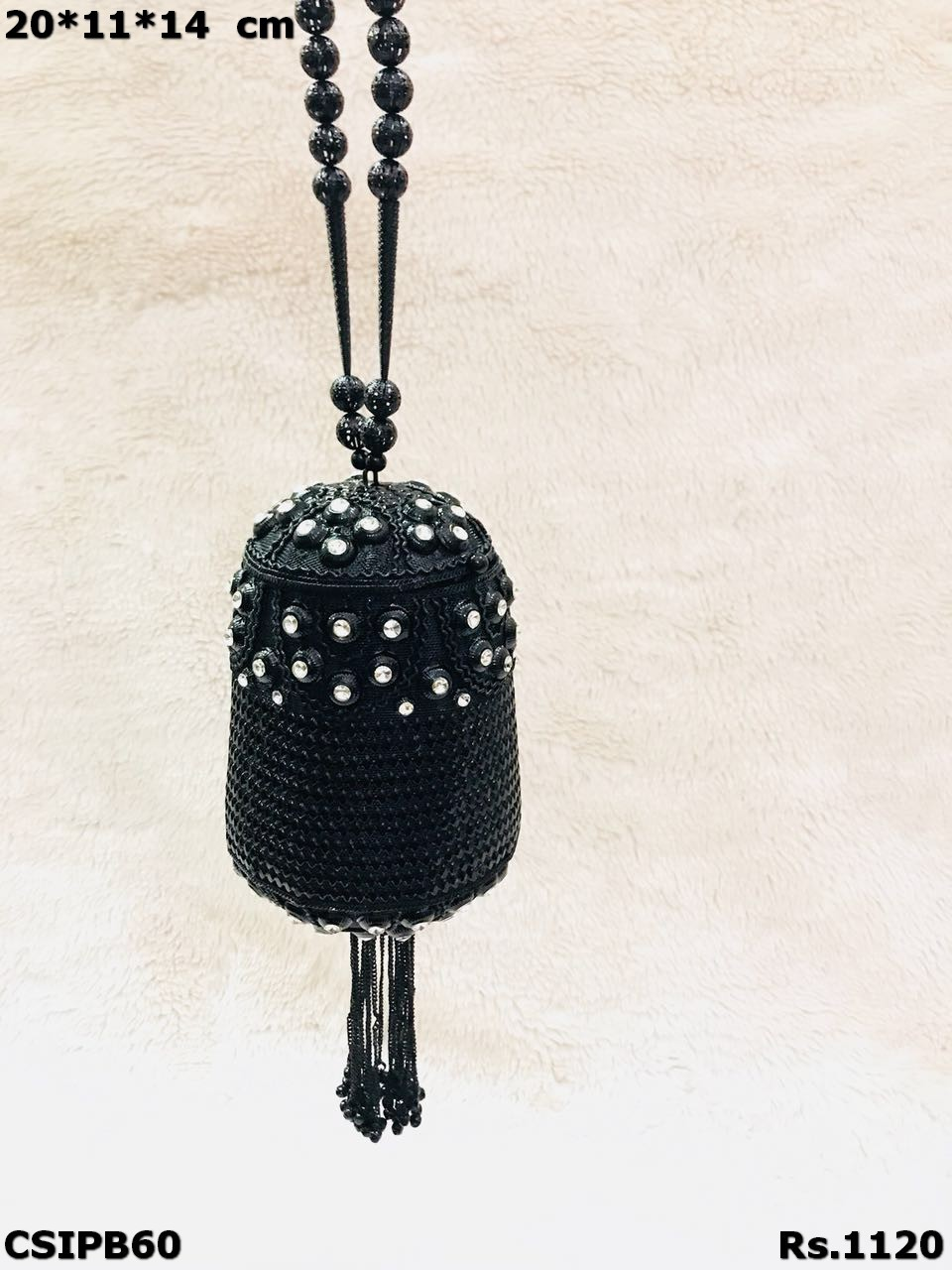 Beaded  Partyware Matel Clutch