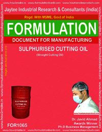 Formula for Sulphurised Cutting Oil