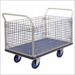 Box Trolley with Wire Mesh
