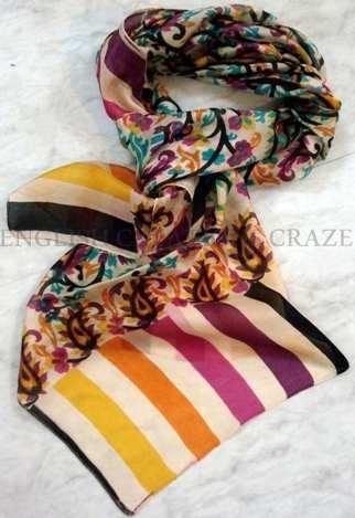 Silk Printed Scarves India
