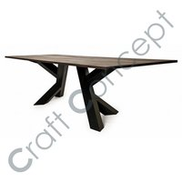 Black Iron Dining Table