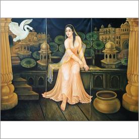 Seema Singh - Lady In Garden