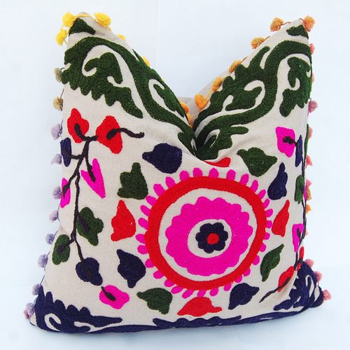 Hand Work Suzani Cushion Cover