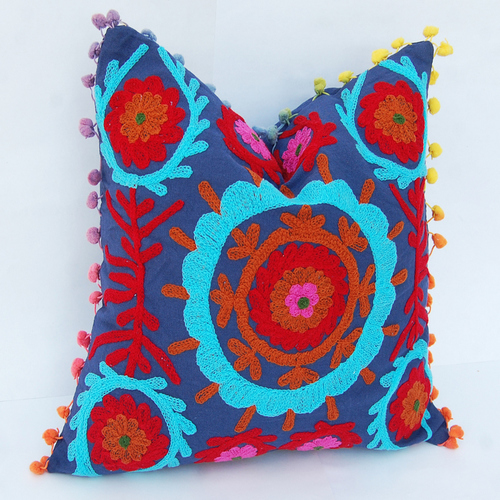 Suzani Hand Work Cushion Cover