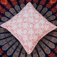 Block Printed Cotton Cushion