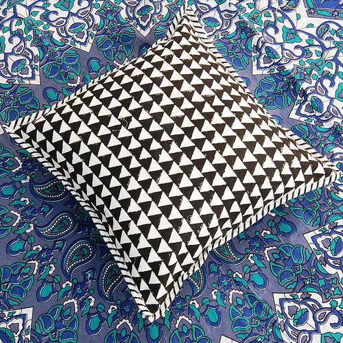 Block Printed Fancy Cushion Cover