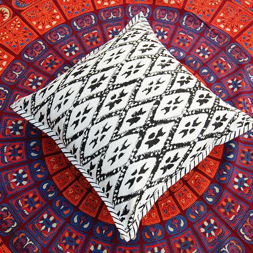 Block Print Cotton Cushion Cover Set