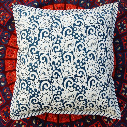 Hand Block Print Cotton Cushion Cover