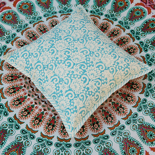 Decorative Block Printed Cushion Cover