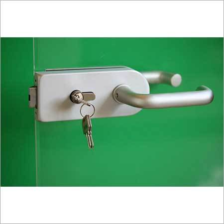 Glass Door Lock- Aluminum Body