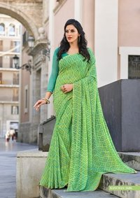 Georgette Piping Saree