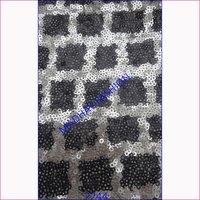 Black & Sliver Sequin Embroidery Work