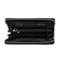 Finished Leather Ladies Wallet Color Black