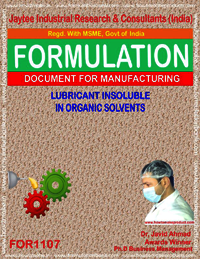 Lubricant Insoluble in Organic Solvents