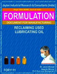 Reclaming Used Lubricating Oil