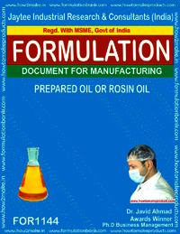 Prepared Oil Or Rosin Oil