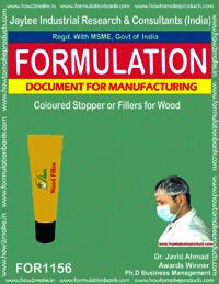Coloured Stopper or Fillers for Wood Formulation