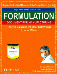 Acrylic Emulsion Paint for Soft Woods Exterior White