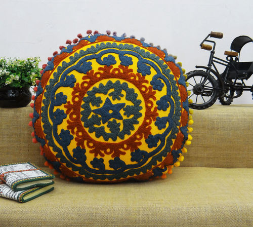 Embroidered Cotton Suzani Cushion Cover