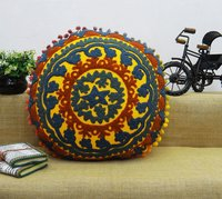 Embroidered Handmade Cotton Suzani Cushion Cover