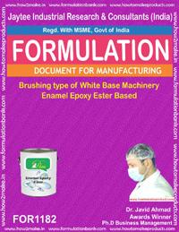 Brushing type of White Base machinery Enamel Epoxy Ester Based