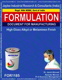 High Gloss Alkyd or Melaminen Finish Formulation
