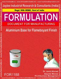 Aluminium Base for Flameboyant Finish
