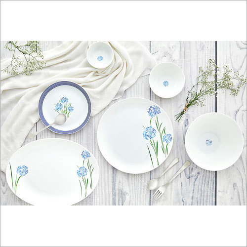 Opal Glass Dinner Set Printing Services