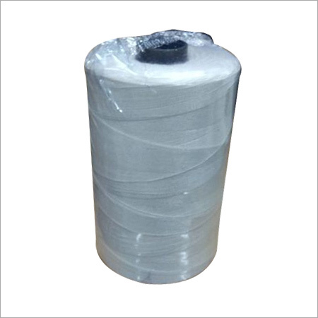 Natural White Polyester Thread Cone