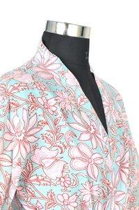 10 Cotton Hand Block Print Long Women's Kimono Robe DR13
