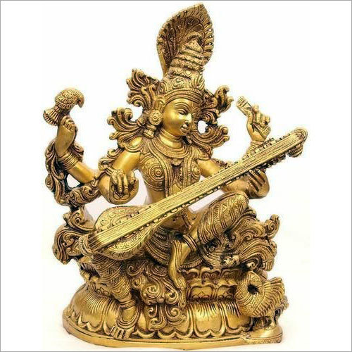 Saraswati Brass Statue