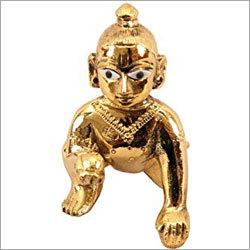 Laddu Gopal Brass Statue