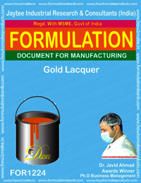 Formulation of Golden color Lacquer
