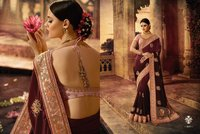 Pure Satin Silk Designer Saree