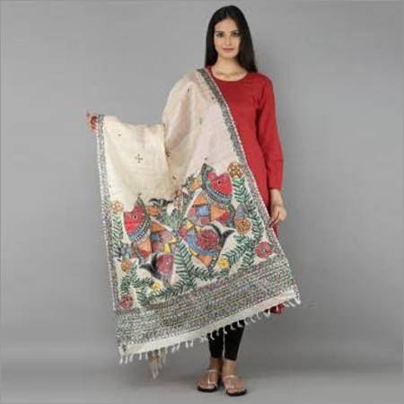 Madhubani Silk Fancy Dupatta