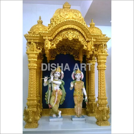 Full Carving Wooden Mandir