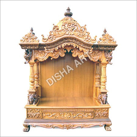 Double Arts Wooden Mandir